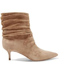 Gianvito Rossi - Cecile 55 Suede Ankle Boots - Lyst