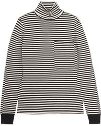 JOSEPH - Striped Merino Wool Turtleneck Jumper - Lyst