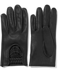Brunello Cucinelli - Embellished Leather Gloves - Lyst