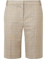 Tibi - Cooper Prince Of Wales Checked Wool And Silk-blend Shorts - Lyst