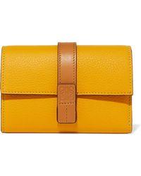 Loewe - Textured-leather Wallet - Lyst