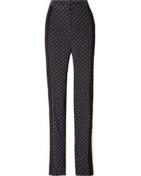 a2f6c55d56ef Stella McCartney - Printed Silk Crepe De Chine Straight-leg Pants - Lyst