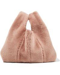 Kara | Shopper Mini Shearling Tote | Lyst