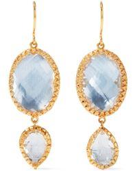 Larkspur & Hawk - Sadie Gold-dipped Quartz Earrings - Lyst