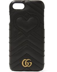 Gucci - Gg Marmont Quilted Leather Iphone 7 Case - Lyst