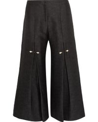 Mother Of Pearl - Bennie Faux Pearl-embellished Pleated Jacquard Trousers - Lyst
