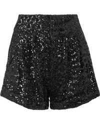 Isabel Marant - Orta Sequined Crepe Shorts - Lyst
