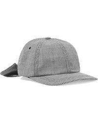 Clyde - Houndstooth Wool-felt Baseball Cap - Lyst