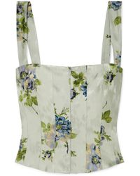 Brock Collection - Tayten Floral-print Silk-jacquard Top - Lyst