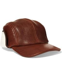Rag & Bone - Pilot Leather And Faux Shearling Cap - Lyst
