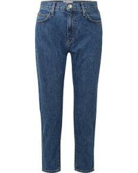Current/Elliott - Cropped High-rise Slim-leg Jeans - Lyst