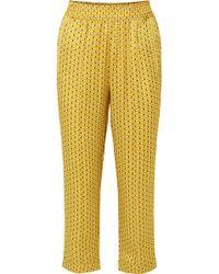 Beautiful Bottoms - Printed Silk-satin Pyjama Trousers - Lyst