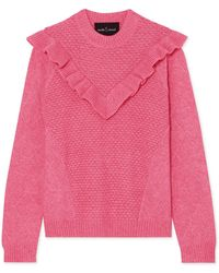 Needle & Thread - Ruffled Knitted Jumper - Lyst