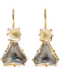 Larkspur & Hawk - Caterina Gold-dipped Quartz Earrings - Lyst