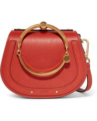 Chloé - Nile Bracelet Small Leather And Suede Shoulder Bag - Lyst