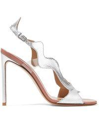 Francesco Russo - Pvc-trimmed Metallic Karung Sandals - Lyst