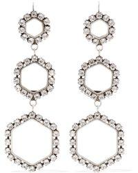 Isabel Marant - Silver-tone Crystal Earrings - Lyst