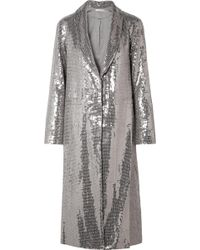 Alice + Olivia - Angela Sequined Crepe Coat - Lyst