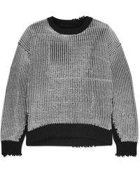 RTA - Emmet Distressed Ribbed Lurex And Cotton Jumper - Lyst