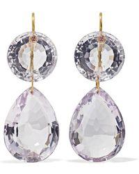Marie-hélène De Taillac - Girandole 22-karat Gold Amethyst Earrings - Lyst