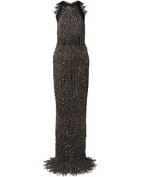 Naeem Khan - Guipure Lace-trimmed Embellished Tulle Gown - Lyst