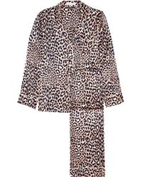 Olivia Von Halle | Lila Leopard-print Silk-satin Pyjama Set | Lyst