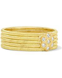 Buccellati - Hawaii 18-karat Gold Diamond Ring - Lyst