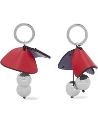 Marni - Silver-tone And Leather Earrings - Lyst