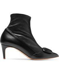 Rupert Sanderson - Glynn Leather Sock Boots - Lyst