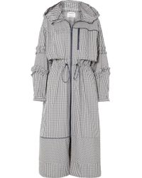 3.1 Phillip Lim - Ruffled Gingham Canvas Parka - Lyst