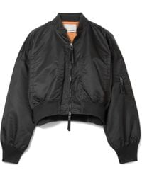 T By Alexander Wang - Cropped Shell Bomber Jacket - Lyst