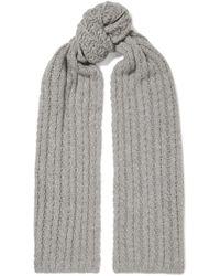 Portolano - Cable-knit Cashmere Scarf - Lyst