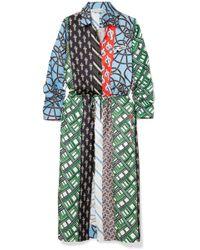 Carven - Layered Printed Silk-twill Dress - Lyst
