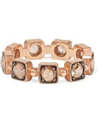 Sylva & Cie - Bague En Or Rose 14 Carats Et Diamants - Lyst