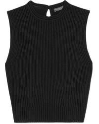 Alexander McQueen - Ribbed-knit Tank - Lyst