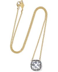Fred Leighton - Collection 18-karat Gold, Sterling Silver And Topaz Necklace - Lyst