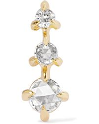 Catbird - Snow Queen Gold Diamond Earring - Lyst