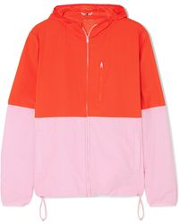 Tory Sport | Hooded Two-tone Shell Jacket | Lyst