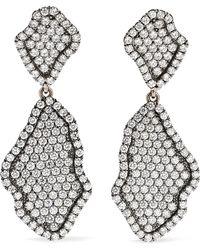Kimberly Mcdonald - 18-karat Blackened White Gold Diamond Earrings - Lyst