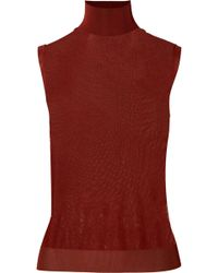 Chloé - Knitted Turtleneck Top - Lyst