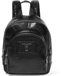 Marc Jacobs Sac à Dos Mini Double Pack Backpack en Cuir Noir IRhL56
