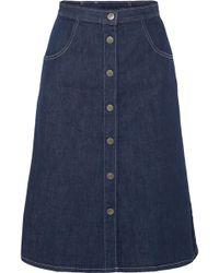 M.i.h Jeans - Callcott Organic Denim Skirt - Lyst