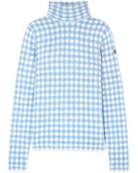 Moncler Grenoble - Checked Knitted Turtleneck Sweater - Lyst