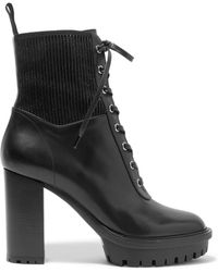 Gianvito Rossi - Martis 90 Lace-up Leather Ankle Boots - Lyst