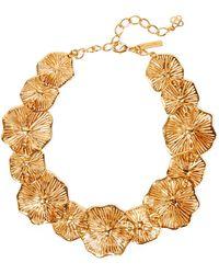 Oscar de la Renta - Gold-plated Necklace - Lyst