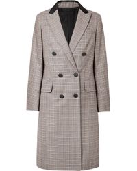 Rag & Bone - Preston Double-breasted Checked Wool And Cotton-blend Coat - Lyst
