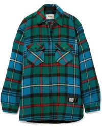 we11done Checked Wool Shirt - Green
