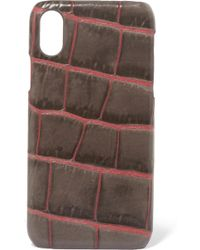 The Case Factory - Croc-effect Leather Iphone X Case - Lyst
