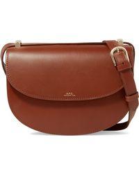 A.P.C. - Geneve Leather Shoulder Bag - Lyst