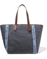 J.W.Anderson - Leather-trimmed Logo-printed Canvas Tote - Lyst